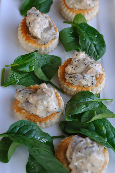 Chicken, Thyme & Mushroom Vol au Vent closer opt