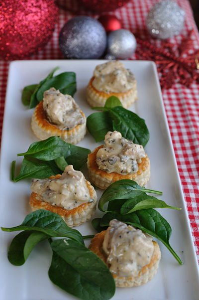 Chicken, Thyme & Mushroom Vol au Vent opt
