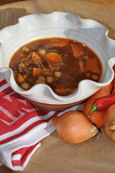 Chunky Carrot & Chilli Bean Stew