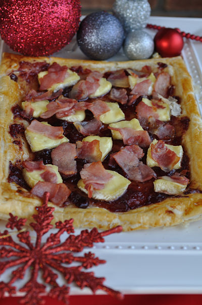 Cranberry, Brie & Bacon Tart
