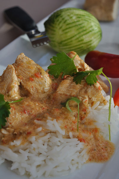 Red Thai Chicken Curry Close1