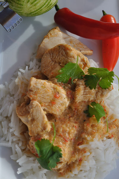 Red Thai Chicken Curry Close2