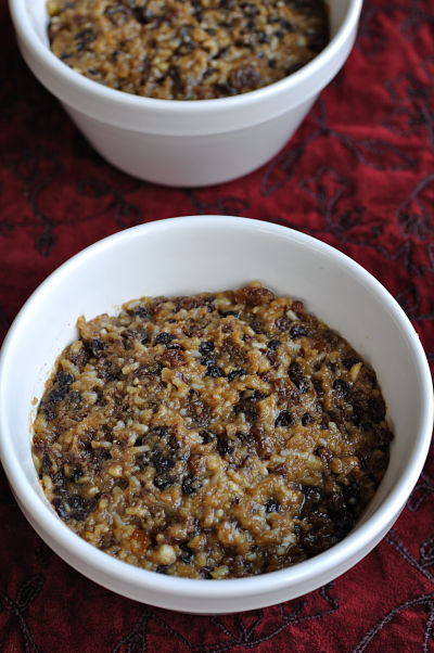 Christmas Pudding in Bowls