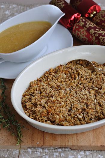 Turkey Gravy and Mushroom & Pinenut Stuffing