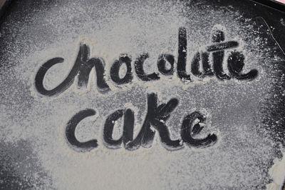 Chocolate Cake in flour
