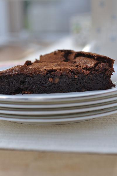 Chocolate Orange Mousse Cake Slice