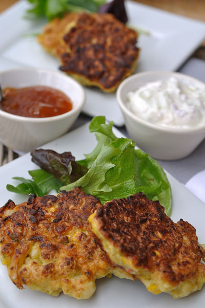 Corn and Cauliflower Fritters