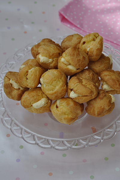 Choux Pastry with Pastry Cream