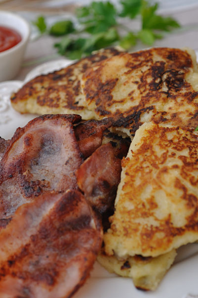Potato Farls close-up