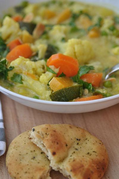 Vegetable Korma with Naan
