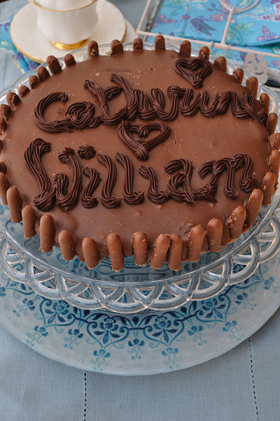 Prince William & Catherine Chocolate Biscuit Cake