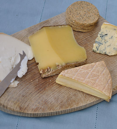 Irish Cheeses on board