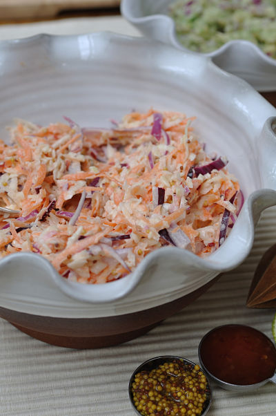 Spicy Slaw & tablespoons