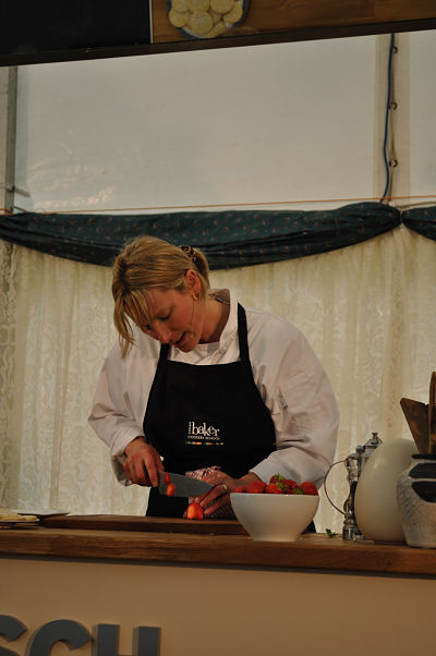 Sarah Baker Preps Strawberries