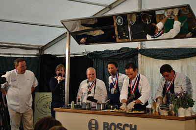 Three French Chefs on stage