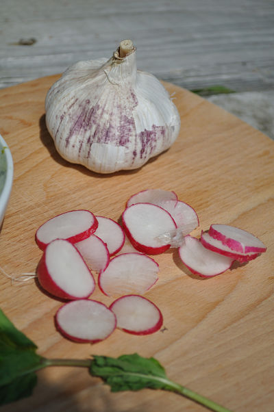 Garlic Radishes and Min