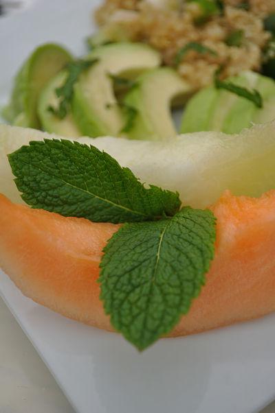 Melon &  Mint Leaves