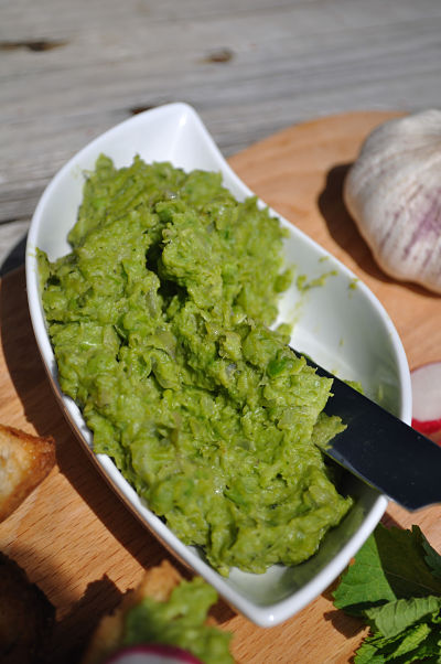 Pea & Garlic Puree