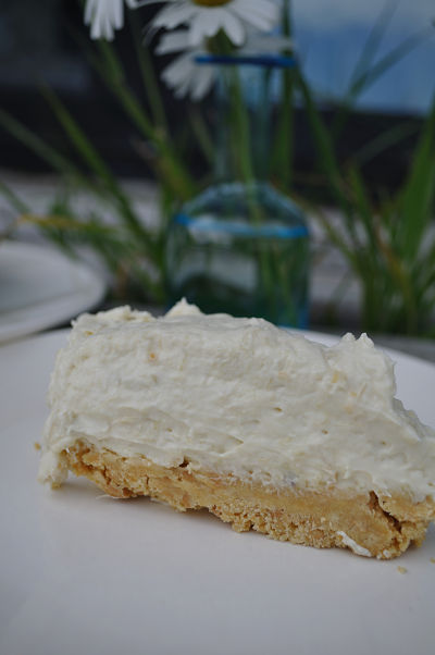 Rhubarb & Custard Cheesecake Slice
