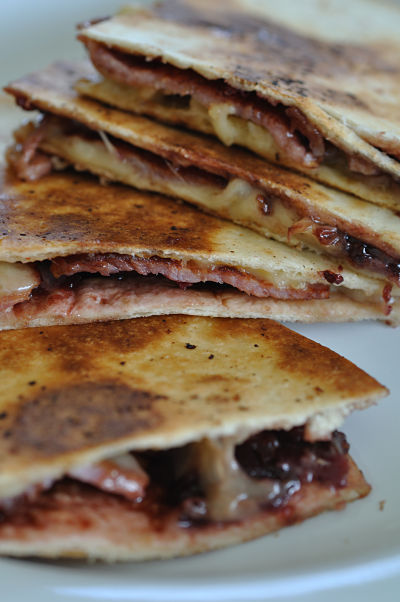 Bacon, Cheese & Chutney Quesadilla