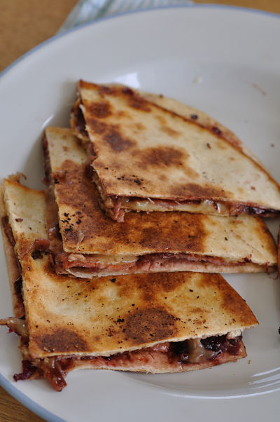 Bacon, Cheese & Chutney Quesadilla 01
