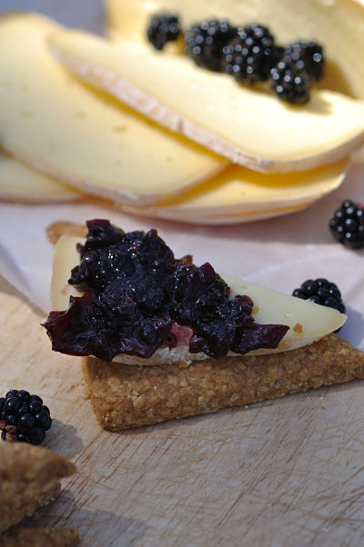 Blackberry & Apple Chutney on Gubbeen Cracker