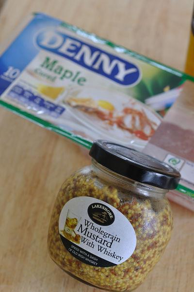 Denny Maple Rashers & Lakeshore Wholegrain Whiskey Mustard