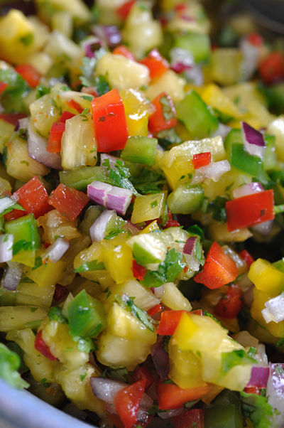 Sweet Chilli & Pineapple Salsa Close-Up