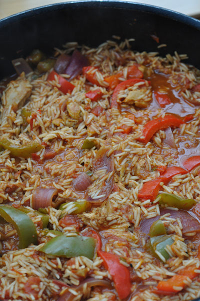 Jambalaya Chicken Close-up