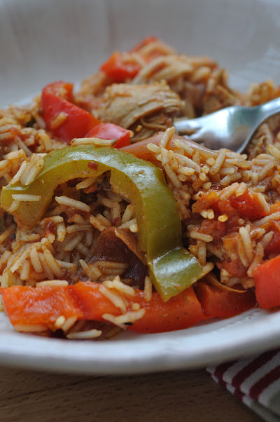 Jambalaya Chicken forkful