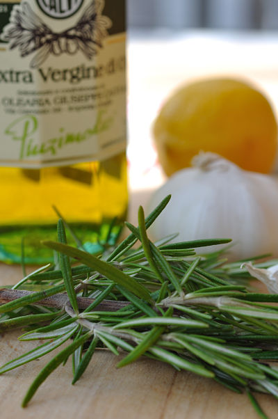 Rosemary, Olive OIl, Garlic, Lemon Marinade