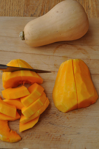 Butternut Squash Chopping
