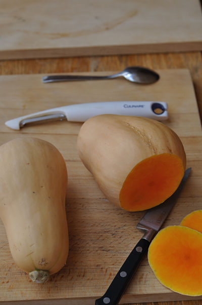 Butternut Squash Top and Tail