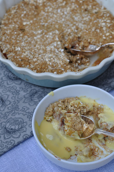 Oatmeal Bramley Apple & Chocolate Crumble & Bowl