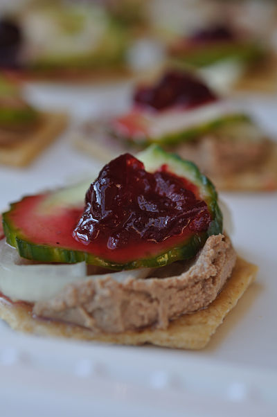 Chicken Liver Pate, Pickled Cucumber & Spiced Cranberries
