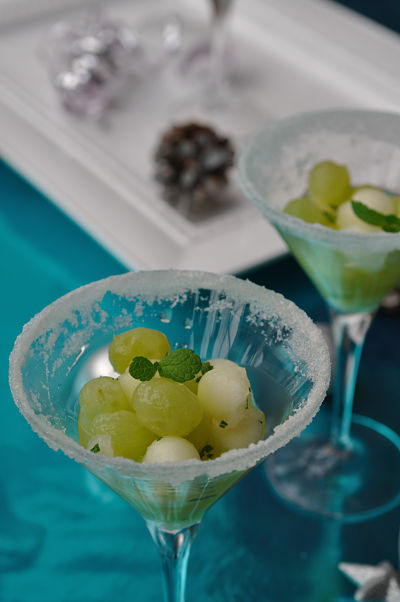 Christmas Starters.Christmas Day Starter Grape And Melon With Mint Gimme