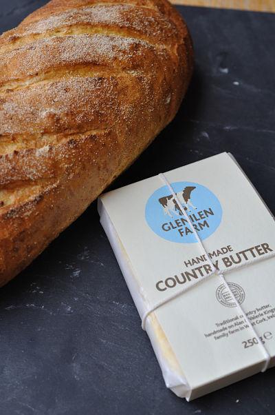 Glenilen Handmade Country Butter & Crusty Bread