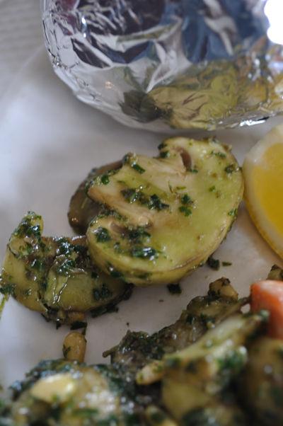 Pesto & Garlic Mushrooms