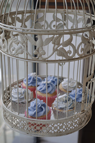 Cupcakes in Birdcage