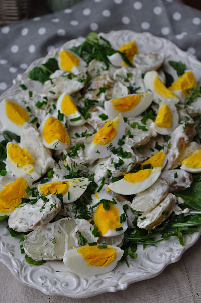 Duck Egg & Potato Salad Platter