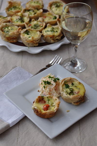 Mini Quiche with White Wine