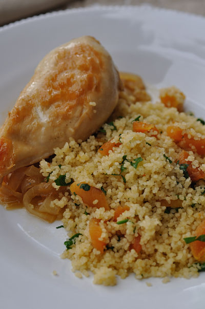Apricot CousCous & Sticky Apricot Chicken