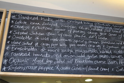 Menu at House Cafe at the Opera House Cork