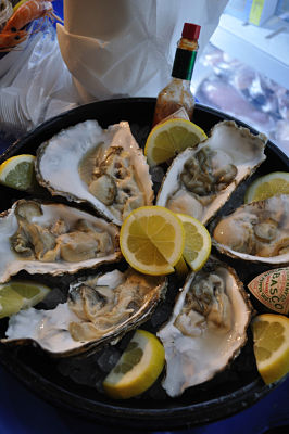 Oysters at Kay O'Connells English Market