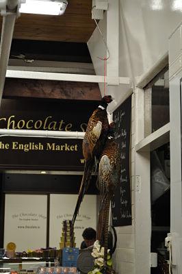 Pheasant hanging at the English Market Cork