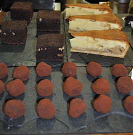Some Desserts (& those salted caramel truffles) at House Cafe