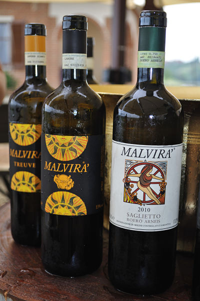 Malvira wines at Villa Tiboldi