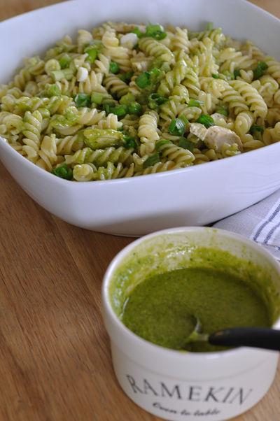 Fusilli Summer Chicken with Lettuce Pesto