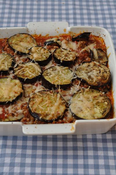 Lamb Parmigiana in dish