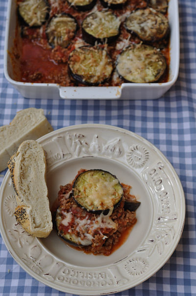 Lamb Parmigiana with crusty bread